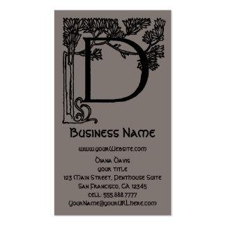 Elegant Vintage Victorian Monogram Letter D, Tree Pack Of Standard Business Cards