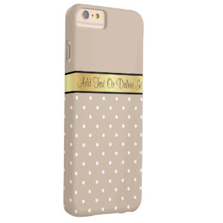 Elegant Warm Milk Coffee Brown. Amazing Polka Dots Barely There iPhone 6 Plus Case