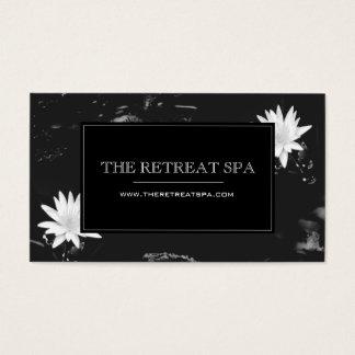 Elegant Water Lilies Business Card