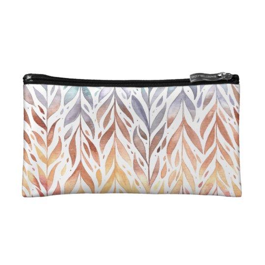 Elegant Watercolor Autumn Leaves | Cosmetic Bag
