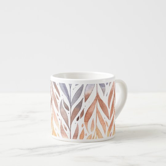 Elegant Watercolor Autumn Leaves | Espresso Mug