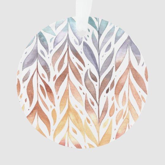 Elegant Watercolor Autumn Leaves | Ornament