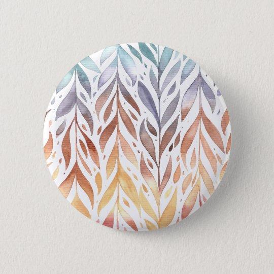 Elegant Watercolor Autumn Leaves   Pin Button