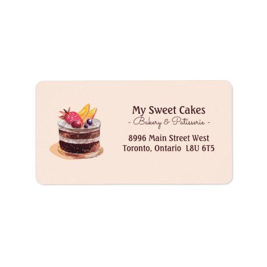 Elegant watercolor cake patisserie cupcake dessert