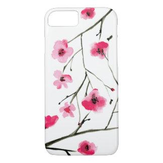 Elegant  Watercolor Cherry Blossoms iPhone 8/7 Case