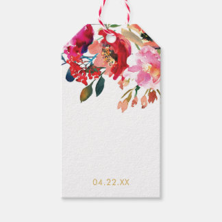 Elegant Watercolor Floral Garden Gift Tags