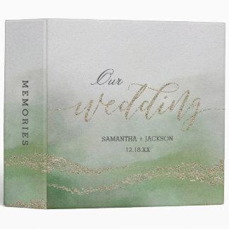 Elegant Watercolor in Foliage Wedding Photo Album Binders