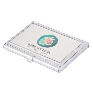 Elegant Watercolor Om Symbol Business Card Holder