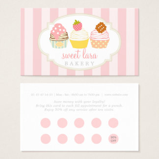 Elegant Watercolor Peony Floral Loyalty Card
