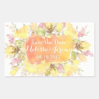Elegant Watercolor Roses Wedding Stickers