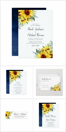 Elegant Watercolor Sunflowers