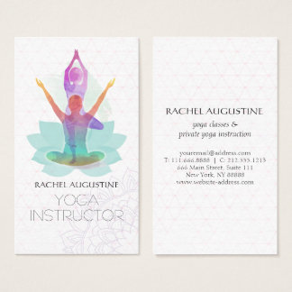 Yoga business cards leoncapers yoga business cards reheart Image collections