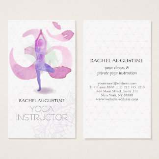 Yoga Instructor Business Cards and Business Card Templates ...