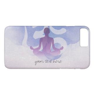 Elegant Watercolor Yoga Meditation Pose Om Symbol iPhone 8 Plus/7 Plus Case