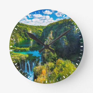 Elegant waterfall scenic, Croatia Clocks