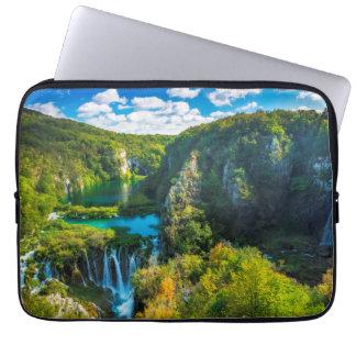 Elegant waterfall scenic, Croatia Laptop Sleeve