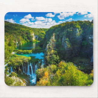 Elegant waterfall scenic, Croatia Mouse Pad
