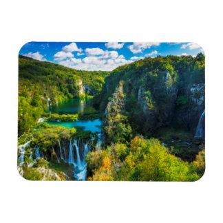 Elegant waterfall scenic, Croatia Rectangular Photo Magnet