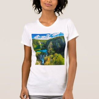 Elegant waterfall scenic, Croatia T-Shirt