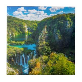Elegant waterfall scenic, Croatia Tiles
