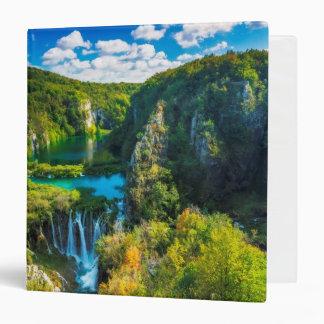 Elegant waterfall scenic, Croatia Vinyl Binder