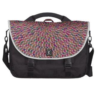 Elegant Wave Celebration Template add Text Img fun Laptop Messenger Bag