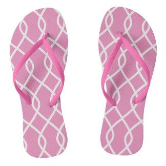 Elegant wave pattern -pink - Flip flops