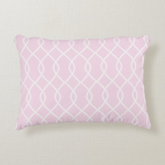 ELEGANT WAVE PATTERN - SOFT PINK - Accent Pillow