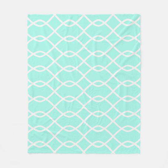 ELEGANT WAVE PATTERN - Teal Fleece Blanket