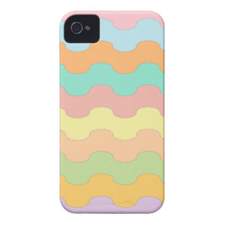 Elegant waves sea of colors and wavy geometry iPhone 4 covers