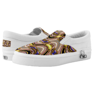Elegant weave  pattern Slip On-Shoes US-Women Slip-On Sneakers