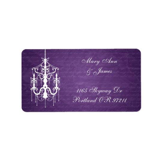 Elegant Wedding Address Chandelier Purple