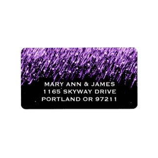 Elegant Wedding Address Falling Stars Purple Label