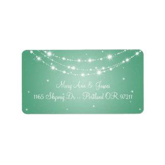 Elegant Wedding Address Sparkling Chain Mint Green