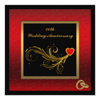 Elegant Wedding Anniversary Party Invitation