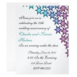 Elegant Wedding Anniversary Party Invitation