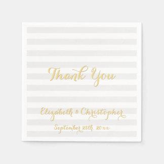 Elegant Wedding Anniversary Thank You Paper Napkin