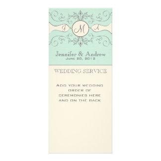Elegant Wedding Church Programs Custom Announcements