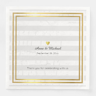 elegant wedding dinner napkins with pale stripes disposable napkin