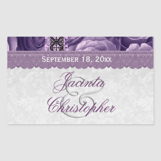 Elegant Wedding Favor PURPLE Roses V05