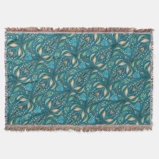 Elegant wedding floral rustic beautiful pattern throw blanket