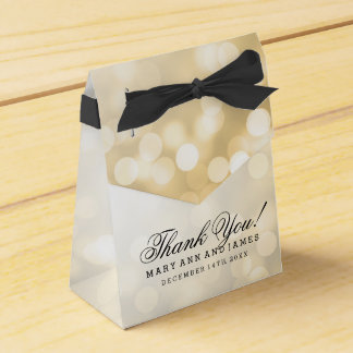 Elegant Wedding Gold Glitter Lights Favor Box