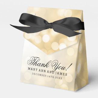 Elegant Wedding Gold Glitter Lights Wedding Favor Box
