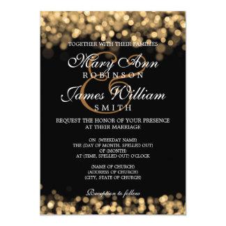 "Elegant Wedding Gold Lights 5"" X 7"" Invitation Card"