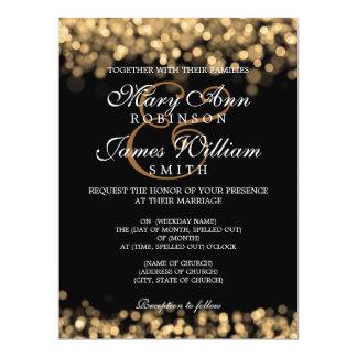 Elegant Wedding Gold Lights Custom Announcement