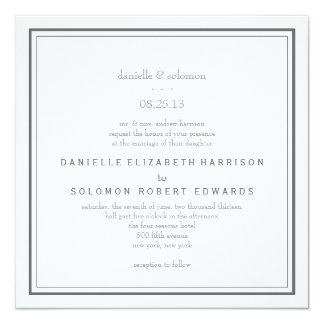 "Elegant Wedding Invitation - Change Background 5.25"" Square Invitation Card"