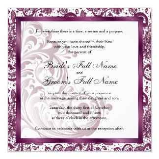 Elegant Wedding Invitation - Purple
