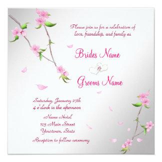 Elegant Wedding Invitation with Sakura