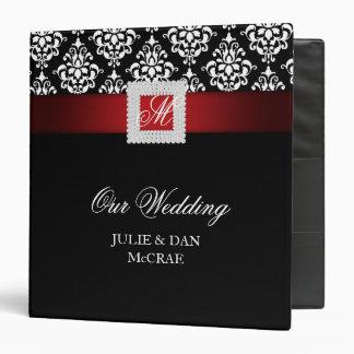 Elegant Wedding Jewels Red Black White Binder