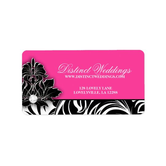 Elegant Wedding Label Jewellery Logo Pink